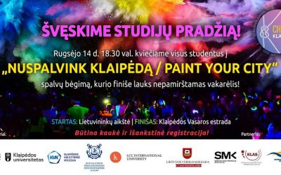 "Celebration of the beginning of studies ""Let's colour Klaipeda"""