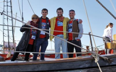 "A team of volunteers for the sailing race ""The Tall Ships Races 2021"""