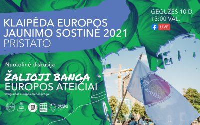 """Nuotolinė diskusija """"Žalioji banga Europos ateičiai"""" su eurokomisaru Virginijumi Sinkevičiumi"""