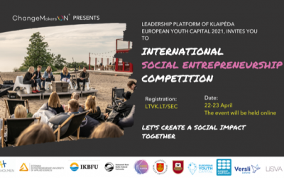"""Klaipeda – European Youth Capital 2021"" invites young people to share their social business ideas"