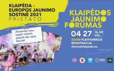 """Klaipėdos jaunimo forumas """"Tapk pokyčiu""""!"""